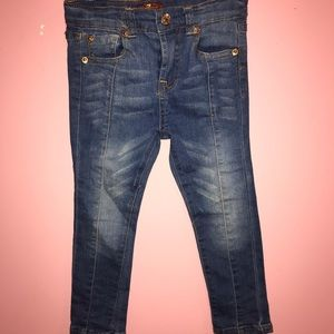 7 for Mankind Girls Straight Leg Jeans Size 3T